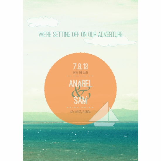 save the date cards - Setting off on Adventure by Priyanka Nayar