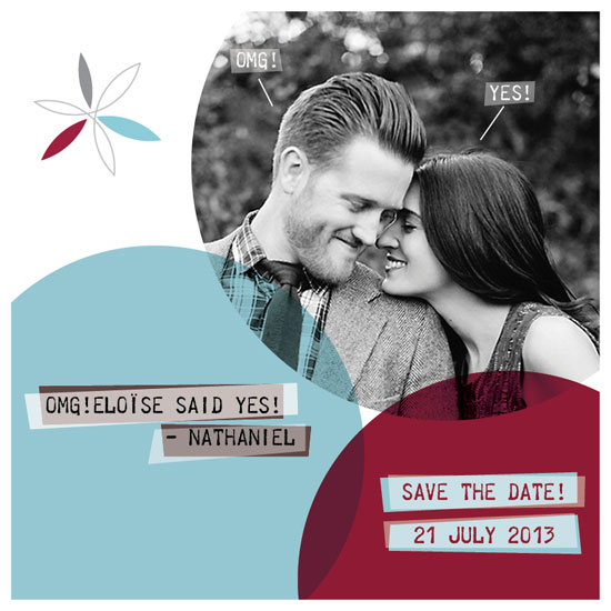 save the date cards - omg yes circles by Sophie Bouy