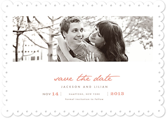 save the date cards - vanilla by chocomocacino