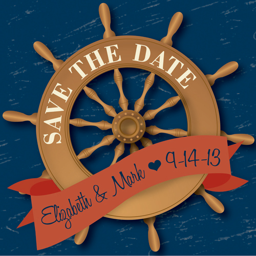 save the date cards - Set Sail by Audrey Pelsor
