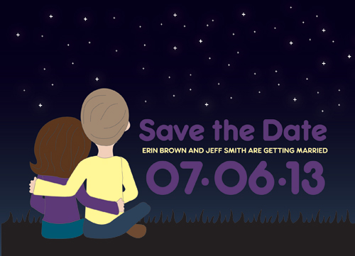 save the date cards - Stargazers by Audrey Pelsor