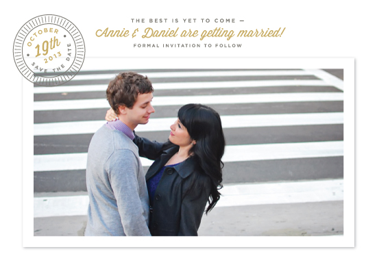 save the date cards - The best is yet to come by Alston Wise