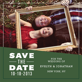 save the date cards - Framed Beauty by Erin Jones Turner