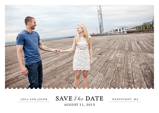 save the date cards - shore thing 3 by lena barakat