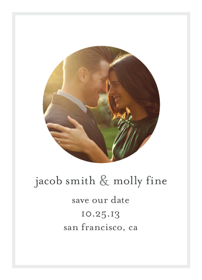 save the date cards - Mr. & Mrs. Minimalist by Laura Glass