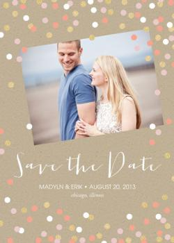 Glittering Confetti Save the Date