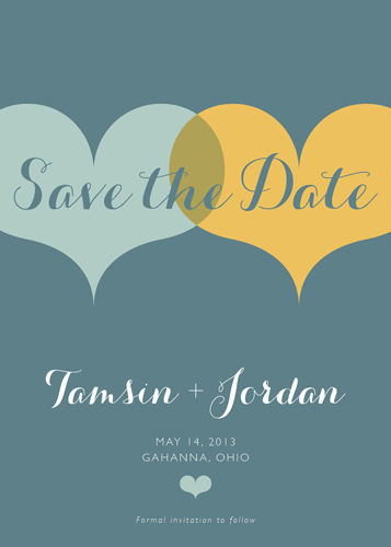 save the date cards - Total Love Save the Date by ps paperie