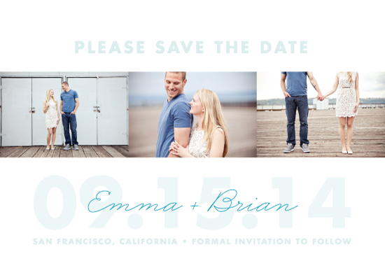 save the date cards - By the Bay by Paper and Parcel