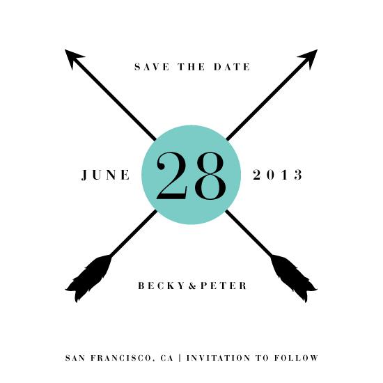 save the date cards - Crossed Arrows by Kellie McCool