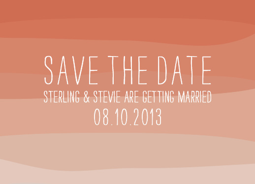 save the date cards - Color My Love by marmalade press