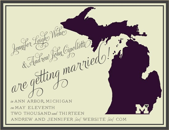 save the date cards - State Style by Jennifer Wehe