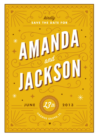 save the date cards - Deco Date by Kristen Smith