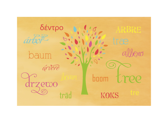 art prints - Multilingual tree by little dirigible
