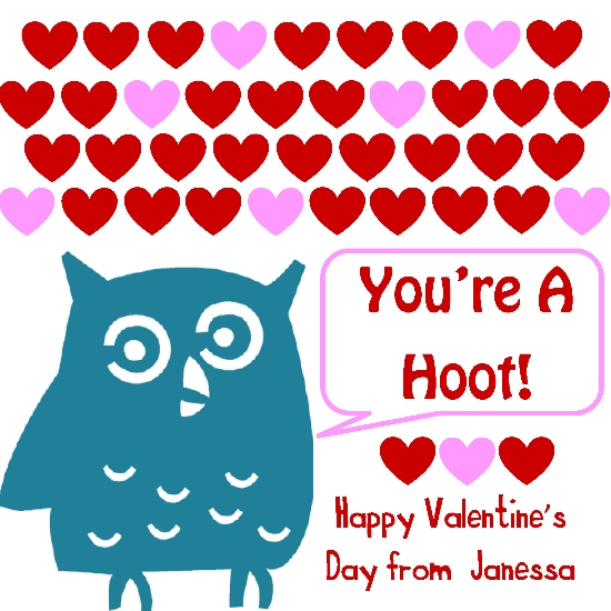 valentine's cards - You're A Hoot! by Elite Party Creations