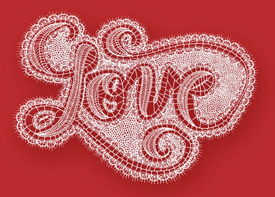 valentine's cards - Lace Love by Andalyn Warren