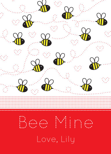 valentine's cards - Bee Mine Little Bee Valentine by Holly Brooke Jones