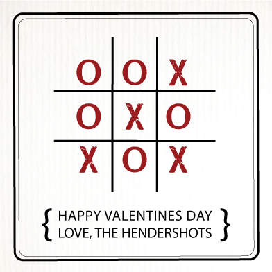 valentine's cards - XO-TIC-TAC-TOE by Jessica Morris