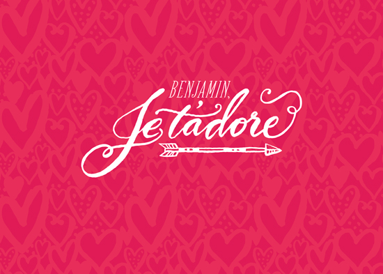valentine's cards - Je t'adore by Laura Bolter Design