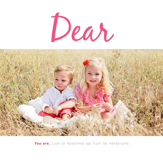 valentine's cards - Dear you are by Kate Grono