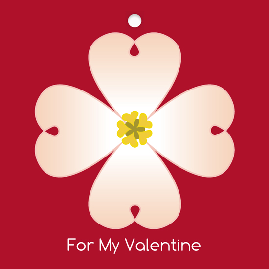 valentine's cards - Dogwood Tag by Regan Y