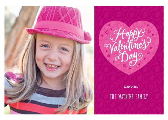 valentine's cards - X's & O's by Laura Bolter Design