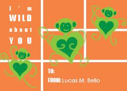 valentine's cards - Love Monkey by Marnie Bello