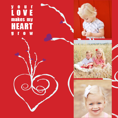 valentine's cards - Growing Heart by Marnie Bello