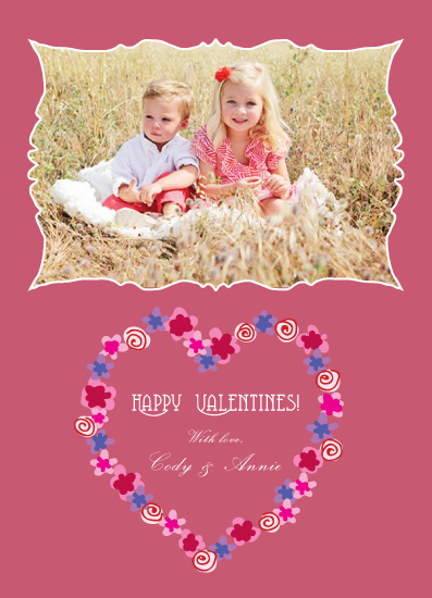 valentine's cards - Flirty Heart Wreath by Omar
