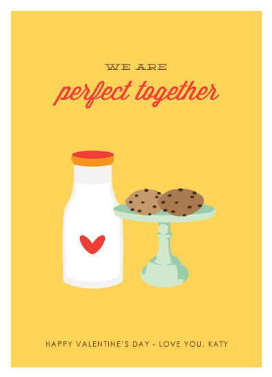 valentine's cards - Milk & Cookies by Monica Schafer