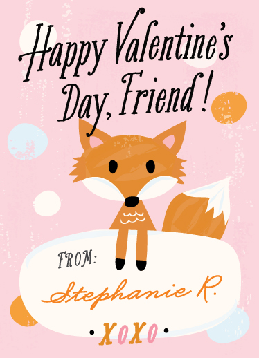 valentine's cards - fox friend by Carolyn MacLaren
