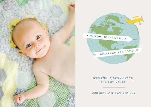 birth announcements - Welcome to the World by Amber Barkley