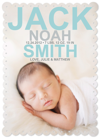 birth announcements - Simply Sweet by Julie Lerice