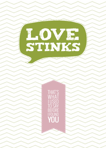 valentine's cards - Love Stinks by Emily Ralph