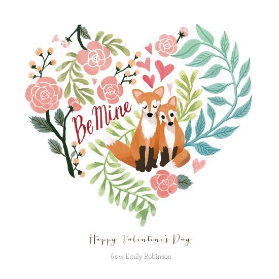 valentine's cards - Red Fox Valentine by Four Wet Feet Studio