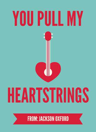 valentines cards Musical Heartstrings at Minted – Musical Valentines Day Cards