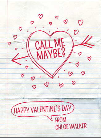 valentine's cards - Call Me Note by A Little Big Picture
