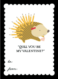 valentine's cards - Miss Penny the Porcupine by Frooted Design