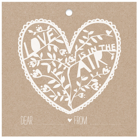valentine's cards - Paper Cut Tag by Jen