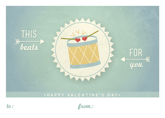 valentine's cards - Little Drum by Wendy Van Ryn