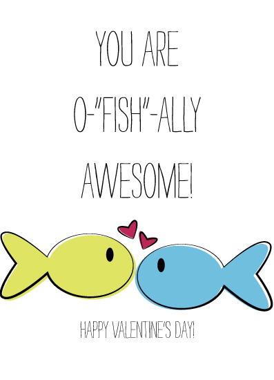 valentine's cards - O-fish-ally Awesome by Artsy Canvas Girl Designs