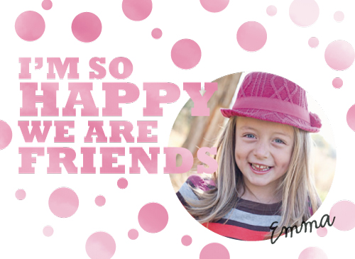 valentine's cards - Happy We're Friends by Laura Glass