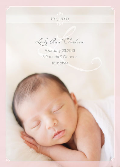 birth announcements - Oh, Hello Baby by Sooki Carrano