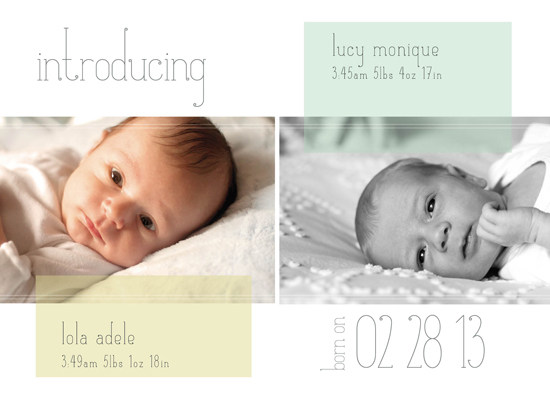 birth announcements - Soft Neutral Pastel by Mint and Merit