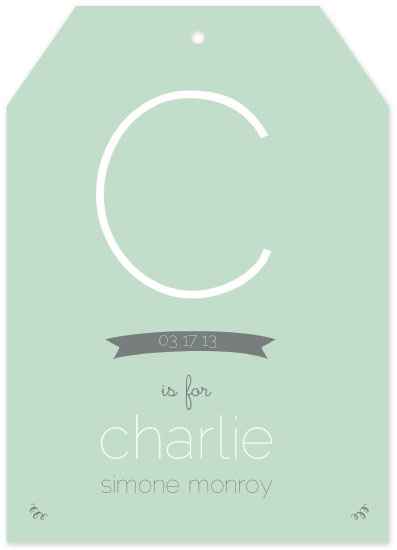 birth announcements - C is for Charlie by Mint and Merit