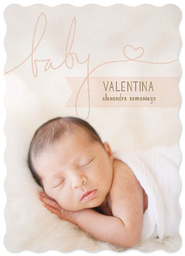 birth announcements - Sweet Valentina by Mint and Merit