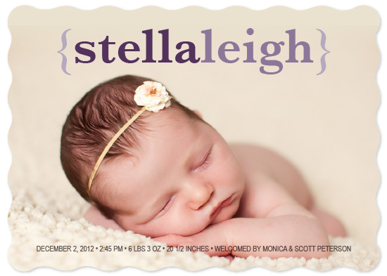 birth announcements - Meet Stella by Jennifer Gregory