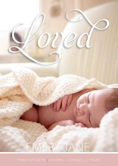 birth announcements - Loved Emery Jane by Larissa Degen