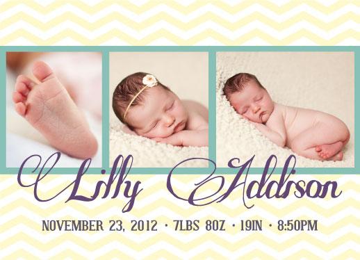 birth announcements - Mini Chevron Style by Nikkie Gaitan