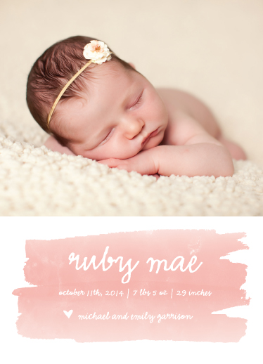 birth announcements - sweet splash by SimpleTe Design
