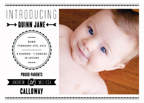 birth announcements - The Modern Way by Bourne Paper Co.